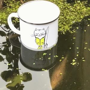 Horgász macska (SCDESIGN) - Meska.hu