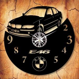 BMW E46 bakelit óra SAJÁT RENDSZÁMMAL, Lakberendezés, Otthon & lakás, Falióra, óra, Mindenmás, Újrahasznosított alapanyagból készült termékek, Vagány BMW E46 bakelit óra, csak Neked! \n\nA csomag tartalma:\n1 db a választott téma szerinti bakelit..., Meska