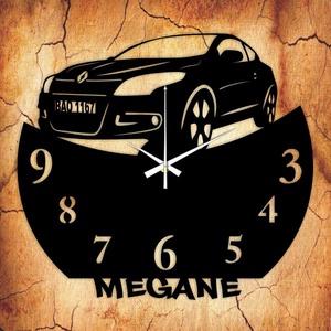 MEGANE falióra - INGYEN szállítással, Lakberendezés, Otthon & lakás, Falióra, óra, Mindenmás, Újrahasznosított alapanyagból készült termékek, Ajándékozz egyedi bakelit órát szeretteidnek! \n\nA csomag tartalma:\n1 db a választott téma szerinti b..., Meska