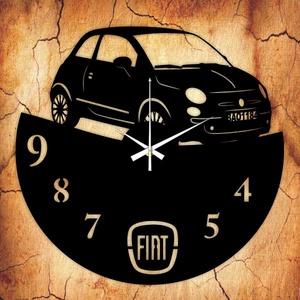 FIAT falióra - INGYEN szállítással, Lakberendezés, Otthon & lakás, Falióra, óra, Mindenmás, Újrahasznosított alapanyagból készült termékek, Ajándékozz egyedi bakelit órát szeretteidnek! \n\nA csomag tartalma:\n1 db a választott téma szerinti b..., Meska