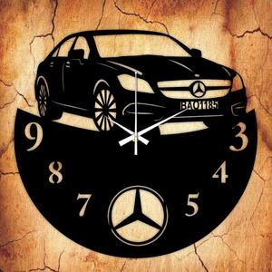 MERCEDES falióra - INGYEN szállítással, Lakberendezés, Otthon & lakás, Falióra, óra, Mindenmás, Újrahasznosított alapanyagból készült termékek, Ajándékozz egyedi bakelit órát szeretteidnek! \n\nA csomag tartalma:\n1 db a választott téma szerinti b..., Meska