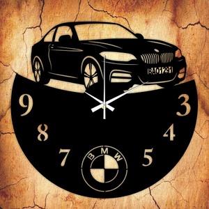 BMW bakelit óra, Lakberendezés, Otthon & lakás, Falióra, óra, Mindenmás, Újrahasznosított alapanyagból készült termékek, Vagány bakelit falióra ajándékba, vagy Neked!\n\nA csomag tartalma:\n1 db a választott téma szerinti ba..., Meska