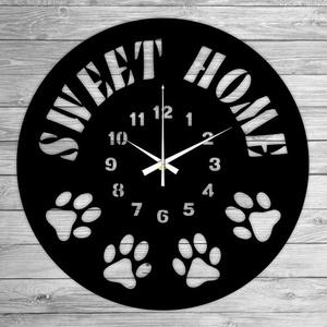 SWEET HOME bakelit falióra, Lakberendezés, Otthon & lakás, Falióra, óra, Mindenmás, Újrahasznosított alapanyagból készült termékek, Ajándékozz egyedi bakelit órát szeretteidnek! \n\nA csomag tartalma:\n1 db a választott téma szerinti b..., Meska