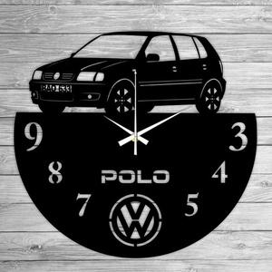VW POLO bakelit falióra, Lakberendezés, Otthon & lakás, Falióra, óra, Mindenmás, Újrahasznosított alapanyagból készült termékek, Ajándékozz egyedi bakelit órát szeretteidnek! \n\nA csomag tartalma:\n1 db a választott téma szerinti b..., Meska