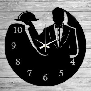 PINCÉR bakelit falióra, Lakberendezés, Otthon & lakás, Falióra, óra, Mindenmás, Újrahasznosított alapanyagból készült termékek, Ajándékozz egyedi bakelit órát szeretteidnek! \n\nA csomag tartalma:\n1 db a választott téma szerinti b..., Meska