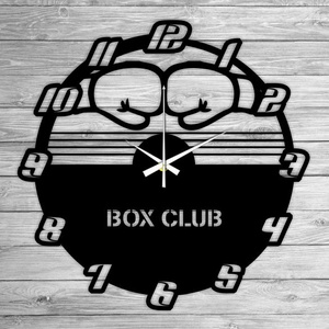 BOX CLUB bakelit falióra, Lakberendezés, Otthon & lakás, Falióra, óra, Mindenmás, Újrahasznosított alapanyagból készült termékek, Ajándékozz egyedi bakelit órát szeretteidnek! \n\nA csomag tartalma:\n1 db a választott téma szerinti b..., Meska