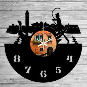 VELENCE bakelit falióra, Lakberendezés, Otthon & lakás, Falióra, óra, Mindenmás, Újrahasznosított alapanyagból készült termékek, Ajándékozz egyedi bakelit órát szeretteidnek! \n\nA csomag tartalma:\n1 db a választott téma szerinti b..., Meska