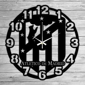 ATLETICO DE MADRID bakelit falióra, Falióra & óra, Dekoráció, Otthon & Lakás, Mindenmás, Újrahasznosított alapanyagból készült termékek, Ajándékozz egyedi bakelit órát szeretteidnek! \n\nA csomag tartalma:\n1 db a választott téma szerinti b..., Meska