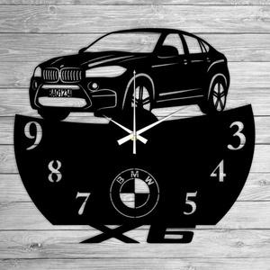 BMW X6 bakelit falióra, Lakberendezés, Otthon & lakás, Falióra, óra, Mindenmás, Újrahasznosított alapanyagból készült termékek, Ajándékozz egyedi bakelit órát szeretteidnek! \n\nA csomag tartalma:\n1 db a választott téma szerinti b..., Meska