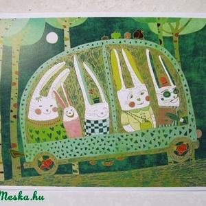 Nyúlút képeslap (schalleszter) - Meska.hu