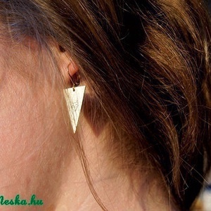 Háromszög róka fülbevaló (schalleszter) - Meska.hu