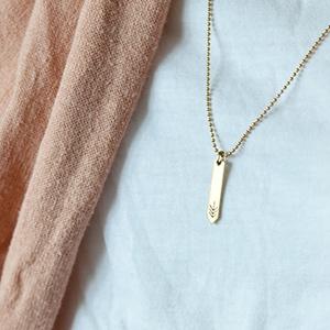 Nyíl alakú réz nyaklánc (schalleszter) - Meska.hu