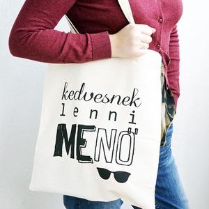 Menő natúr vászontáska (schalleszter) - Meska.hu