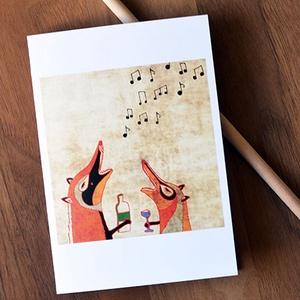 Rókamóka 2. képeslap (schalleszter) - Meska.hu