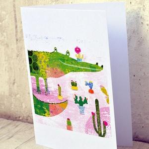 Krokokaktusz képeslap (schalleszter) - Meska.hu