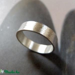 Ezüst karikagyűrű, Ékszer, Gyűrű, Kerek gyűrű, Ékszerkészítés, Meska