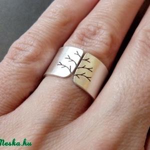 Fa ezüst gyűrű (széles, matt) (Kreagora) - Meska.hu