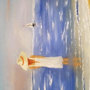 Elment..., Művészet, Festmény, Olajfestmény, Festészet, 40*60 vászon, olaj, ecset technika, Meska