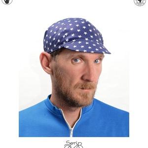 Serin kék csillagos kerékpáros sapka  (serin) - Meska.hu