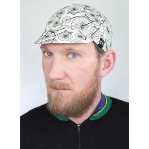 Serin Velocipéd mintás biciklis sapka  - ruha & divat - sál, sapka, kendő - sapka - Meska.hu