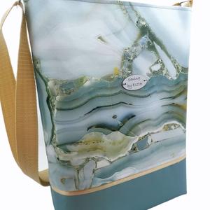 Különleges női nagy táska - Kék és bézs színben , Táska & Tok, Kézitáska & válltáska, Válltáska, Varrás, Meska
