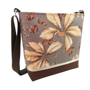 Őszi leveles női táska - Bézs, szürke és barna  - Meska.hu