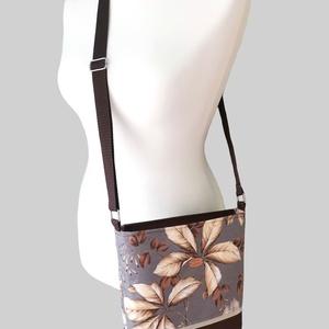 Őszi leveles női táska - Bézs, szürke és barna  - táska & tok - kézitáska & válltáska - válltáska - Meska.hu