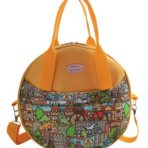 Sétálj Velem - Irány Amszterdam / 3in1 Kör táska - kézitáska / válltáska / hátizsák , Táska & Tok, Variálható táska, Varrás, Meska