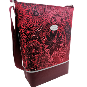 Bordó elegáns női nagy táska, Táska & Tok, Kézitáska & válltáska, Vállon átvethető táska, Varrás, Meska
