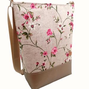 Női nagy táska - Rózsaszín és bronz  - Meska.hu