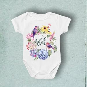 Egyedi baba body rövid ujjú, Ruha & Divat, Babaruha & Gyerekruha, Body, Fotó, grafika, rajz, illusztráció, Varrás, Miért érdemes minket választani?\nAzt gondoljuk, hogy minden baba megérdemli a maximális odafigyelést..., Meska