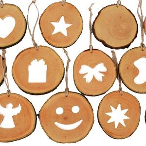 Gömbfa szeletből készült karácsonyi dísz szett, Karácsonyfadísz, Karácsony & Mikulás, Otthon & Lakás, Famegmunkálás, A karácsonyfadíszekazon célunkattestesítik meg, hogy vásárlóink számára egy egyedi élményt nyújtsu..., Meska