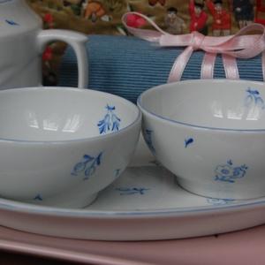 kézzel festett porcelán szett (SILA) - Meska.hu