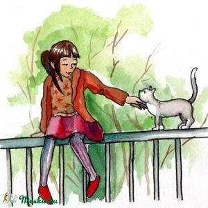 Barátkozás, Művészet, Akvarell, Festmény, Festészet, Fotó, grafika, rajz, illusztráció, Meska