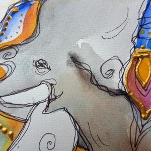 Az elefántok bölcsessége - művészet - grafika & illusztráció - Meska.hu
