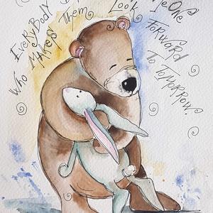 Barátság, Művészet, Grafika & Illusztráció, Festészet, Fotó, grafika, rajz, illusztráció, Nem print!!\nEgyedi rajzok, aquarellek gyerekeknek és gyermeklelkű felnőtteknek. \nTökéletes ajándék b..., Meska