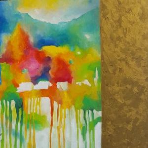 Virágok illata (140x140cm), Kép & Falikép, Dekoráció, Otthon & Lakás, Festészet, Képzőművészként fő profilom absztrakt olajfestmények készítése. A Meska közönsége ezt az oldalamat n..., Meska