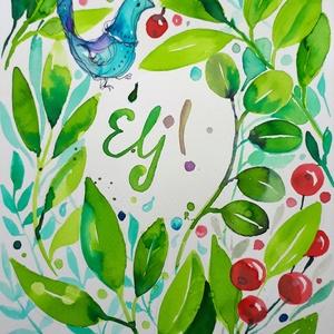 Zöld Lélek-zet. Élj!, Grafika & Illusztráció, Művészet, Fotó, grafika, rajz, illusztráció, Nem print!\nA Házi Áldás újragondolva. Rendelhető a tradicionális szöveggel is. A sorozat képei emlék..., Meska
