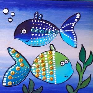 3db halacskás kép együtt.Vizekre fel!, Gyerek & játék, Lakberendezés, Otthon & lakás, Falikép, Gyerekszoba, Fotó, grafika, rajz, illusztráció, Festészet, Horgászok, természetkedvelők, vízimádók, kicsik és nagyok kedvelni fogják ezt a halcsaládot. A fénye..., Meska
