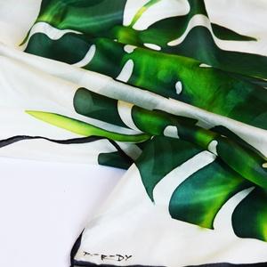 Trópusi selyemstóla pálmalevelekkel (silkandmore) - Meska.hu
