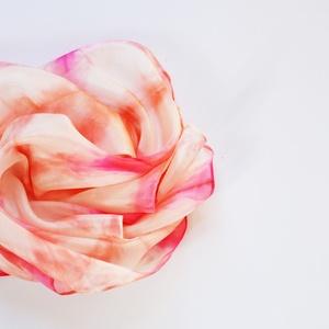 Rózsaszín pink mintás selyemkendő (silkandmore) - Meska.hu