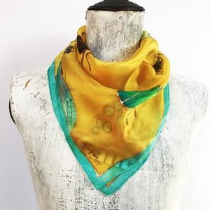 Bogaras sárga selyemkendő (silkandmore) - Meska.hu