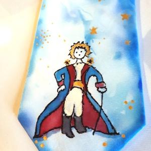 Kis Herceg selyem nyakkendő , Táska, Divat & Szépség, Férfi ruha, Ruha, divat, Sál, sapka, kesztyű, Selyemfestés, Festett tárgyak, anyaga : 100% selyem\negyedi terv alapján készült,klassz ötletes ajándék fiúknak,apukáknak,fiú testvé..., Meska