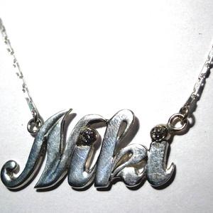 Neves nyaklánc, Monogram & Névnyaklánc, Nyaklánc, Ékszer, Ékszerkészítés, Ötvös, A Niki neves nyaklánc 925-ös ezüstből készült., Meska