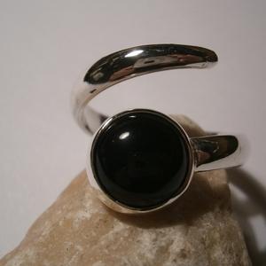 Ónix  gyűrű, Ékszer, Gyűrű, Kerek gyűrű, Ékszerkészítés, Ötvös, Meska