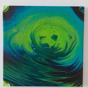 Művészi nyomat - Zöld medve, Művészet, Művészi nyomat, Fotó, grafika, rajz, illusztráció, Festészet, Abszrakt művészi nyomat (giclée nyomat)\nFeszített vásznon \n\nAz eredeti kép fluid art festési technik..., Meska