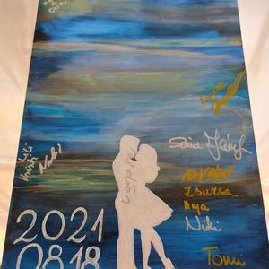 Esküvői vendégköny - aláírható, rajzolható, keretbe helyezhető - Meska.hu