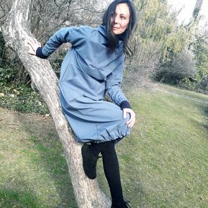 Green Niké ruha - csónaknyakú hosszú felső - hosszú ruha - pulcsi, Ruha, Női ruha, Ruha & Divat, Varrás, Dekoratív minimálprogram, ami diszkréten takar. A Green Niké kényelmes, egyedi megjelenést kölcsönöz..., Meska