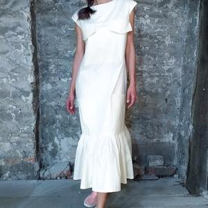 Amber ruha - hosszú, pliszírozott aljú ruha, Ruha, Női ruha, Ruha & Divat, Varrás, Hétköznapi Díva. Természetes elegancia, diszkrét báj, magabiztos kisugárzás.\n\nEz a látványos darab e..., Meska