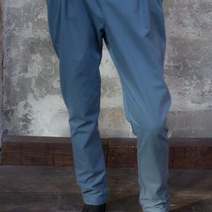 Basic nadrág - gumírozott derekú, bő hajtásokkal ellátott, szűkített szárú, svéd zsebes csípő nadrág, Ruha & Divat, Női ruha, Nadrág, Varrás, Univerzális, mozgalmas, felszabadult.\n\nExtra bő kényelem csípőmagasságban, melyet hajtások zabolázna..., Meska